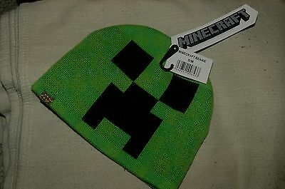 Minecraft Creeper Face Beanie/Hat - Size S/M - BRAND NEW