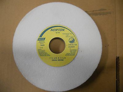 """Norton 38A46 H8Vbe 7"""" Surface Tool Grinding Grinder Wheel"""