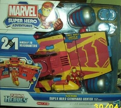 Playskool Heroes Marvel Electronic Super Hero Command Center With Iron Man  New