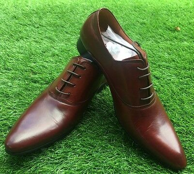 New Men's Genuine Leather Dress Formal Shoes Lace up. Burgundy 50% Off
