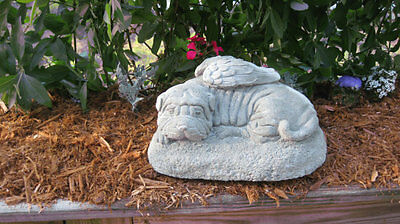 Beautiful hand crafted Shar Pei dog angel memorial statue!!!