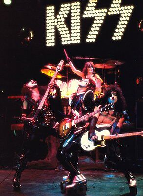 KISS 1975 ALIVE! Era Live Group Shot Reproduction Stand-Up Display