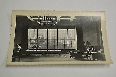Vintage Beautiful German Hotel Mountain View 1950s Black & White Photograph Rare