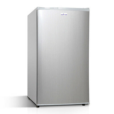 Upright 2-in-1 95L Caravan Bar Fridge Freezer Stainless Steel