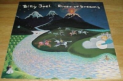 Rare Vintage 1993 ~ BILLY JOEL ~ River of Dreams ~ Promo Album Flat Poster