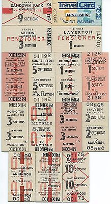 15 MELBOURNE Suburban Tickets from Different Stations