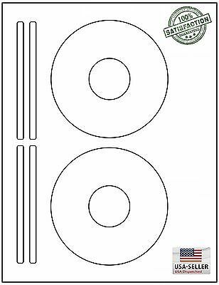 Memorex Compatible Large Core CD DVD Laser Ink Jet Labels - Memorex cd label template
