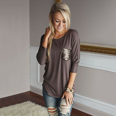 New Fashion Long Sleeve Lady Women's Casual Shirt Tops T-Shirt Loose Blouse
