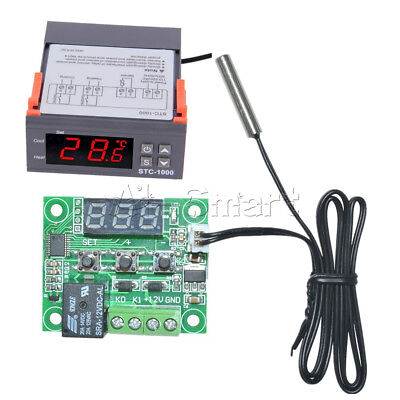 Digital 220V STC-1000 W1209 Temperature Controller Thermostat Regulator W/Sensor