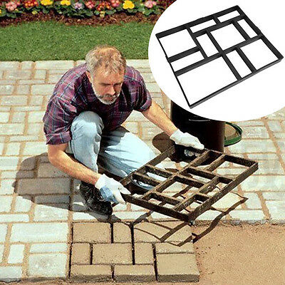 10 Grids Driveway Paving Pavement Mold Patio Concrete Stepping Stone Walk Maker