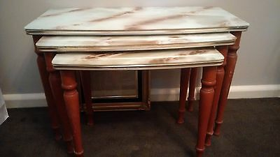 Marble look Retro Nest of Tables - very Vintage