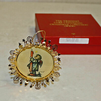 Danbury Mint Hummel Gold Christmas Ornament Set of 35, With Boxes