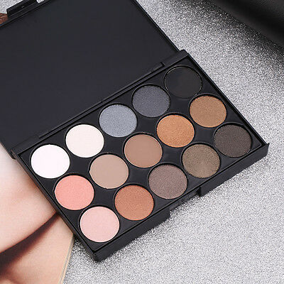 Professional 15 Colors Matte Shimmer Eyeshadow Palette Makeup Cosmetic set PN