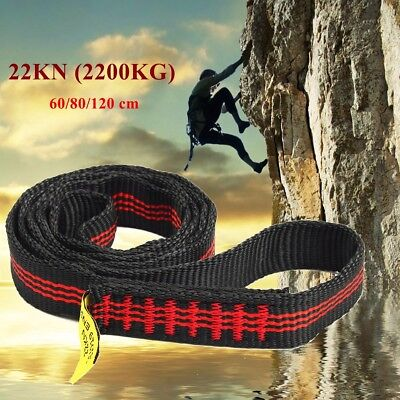 Safety Rock Tree Climbing Express Quickdraw Sling Webbing Rope Strap Cord