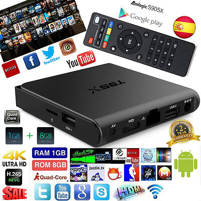 Sunvell T95X Amlogic S905X TV Box Caja Android 6.0 1/8GB QuadCore 4K H.265 WiFi