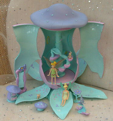 Disney Fairies dolls TINKERBELLS TOADSTOOL HOME fairy treehouse WORKING 100%