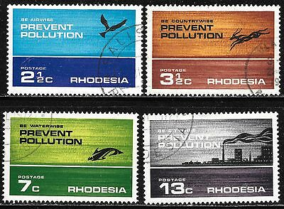Rhodesia 1972 Prevent Pollution V Fine Used Complete Set 1595