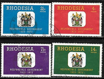 Rhodesia 1973 50Th Anniversary - Responsible Government Complete Used Set 1250