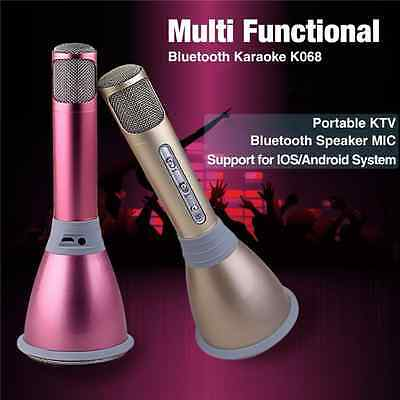 KTV Player Karaoke Mini Bluetooth Microphone Mikrofon Speaker Lautsprecher