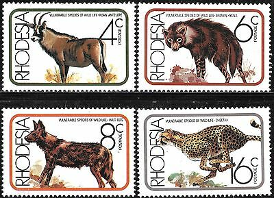 Rhodesia 1976 Wildlife Protection Complete Mnh Set 0754