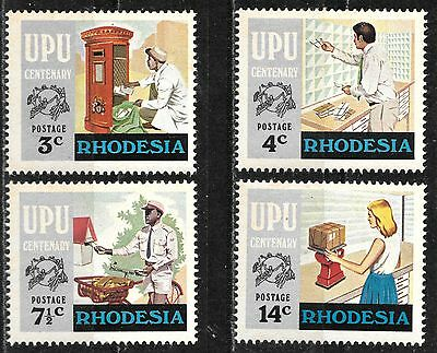Rhodesia 1974 Centenary Of Universal Postal Union Complete Mnh Set 1339