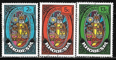 Rhodesia 1972 Christmas V Fine Used Complete Set 1287