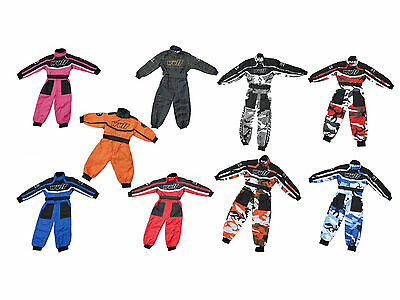New Wulsport Childrens Race Suit Overalls Motocross Quad Go-Kart Youth Kids Wulf
