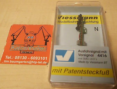 Viessmann N 4416 exit signal with Advance signal new original packaging