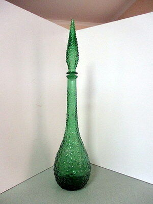 Vintage Genie Bottle Made in Italy Green Bubble Design