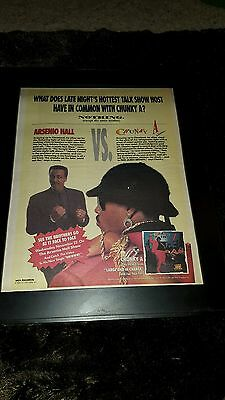 Arsenio Hall Chunky A Large And In Charge Rare  Radio Promo Poster Ad Framed!