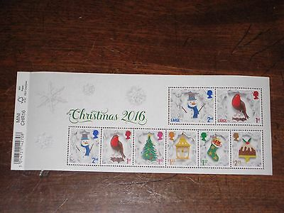 GB 2016 Miniature Sheet with Barcode MS - Christmas - Mint