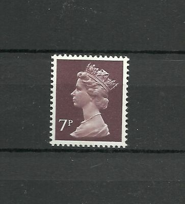 Great Britain Machin 1977  7 p FCP PVAD CB  SG X 875 MNH