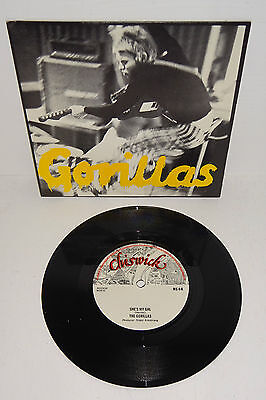 "The Gorillas She's My Gal Chiswick Ns4 A1/b1 7"" + P/s --- Unplayed Vinyl"