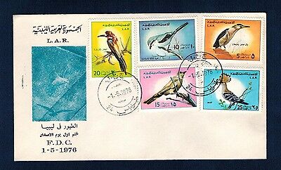 Cover FDC Libia 1976 Birds  Circulated
