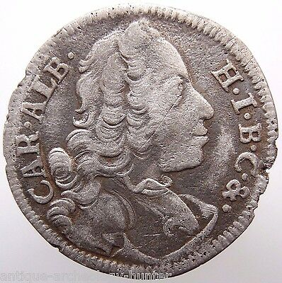 European Hammered Silver Coin 1736 AD from Treasure Baltic Sea Very Rare!