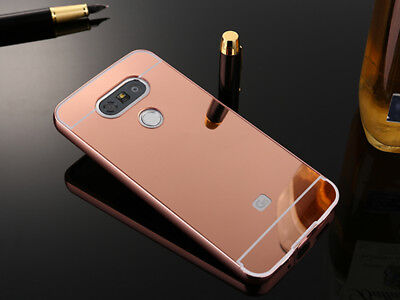 Luxury Metal Aluminum Frame Bumper Case + PC Mirror Back Cover For LG Phone S001