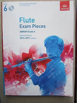 Grade 6 Flute Exam pieces with 2 CDs and Piano Accompaniment 2014-2017 *NEW*