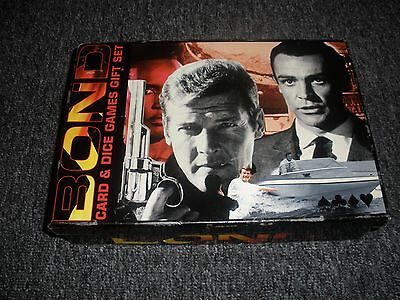 james bond games card and dice gift set 007