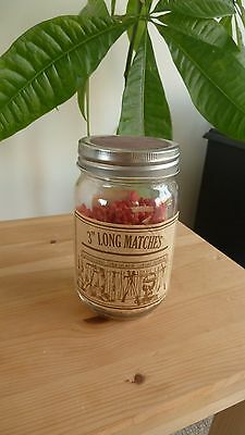 """3"""" Matches In A Jar"""
