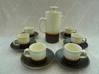 VINTAGE  AUTHENTIC  1970'S COFFEE SET IDEN RYE POTTERY East Sussex