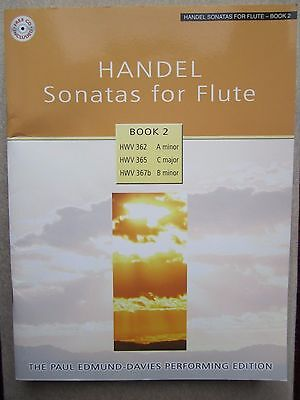 Handel Sonatas for Flute Book 2 with CD and piano part *NEW* publisher Mayhew