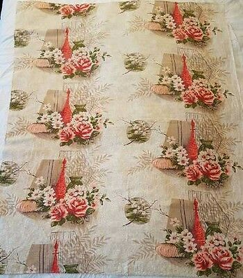 Vintage Tablecloth Fabric Panels for Cushions Sewing Gorgeous Design Cotton VGC