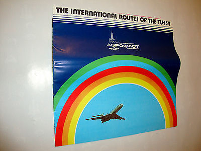 Aeroflot Soviet Airlines The International Routes Of The Tu-154