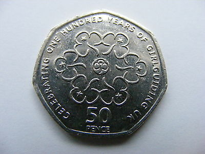 "British 50p Coin 2010 - "" 50 Years of Girlguiding  """