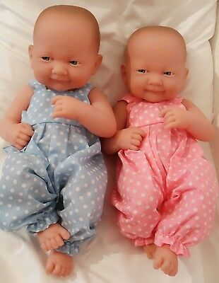"14"" Dungarees  Doll Clothes Handmade Fit Little Baby Born First Annabell 34Cm"