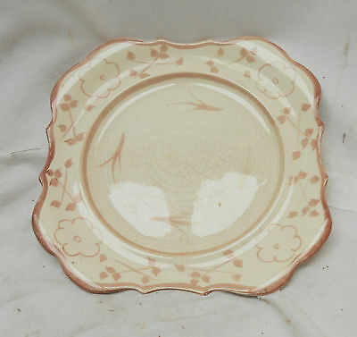 LOVELY Vintage Collectable HANLEY SANDLAND WARE PLATE 19.5cm x 19.5cm