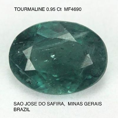 INDICOLITE TOURMALINE UNTREATED NATURAL MINED 0.95Ct  MF4690