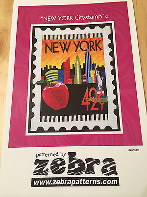 New York City Stamp Applique Patchwork Wall Quilt Pattern By Zebra Patterns Usa