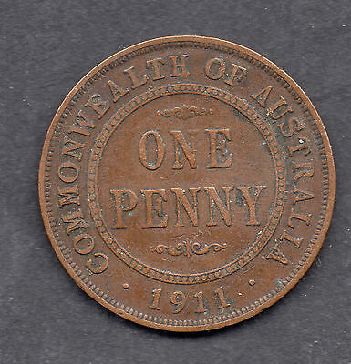 commonwealth of australia one penny 1911 coin