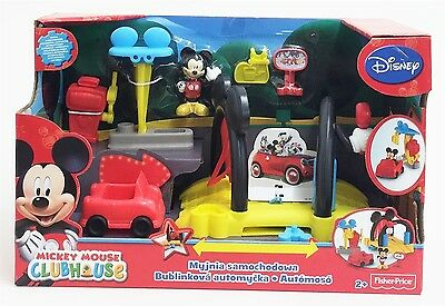 Disney BDJ81 Mickey Mouse Clubhouse Soap 'n Suds Car Wash Playset Fisher-Price
